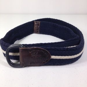 Abercrombie & Fitch Leather Woven  Cargo Belt